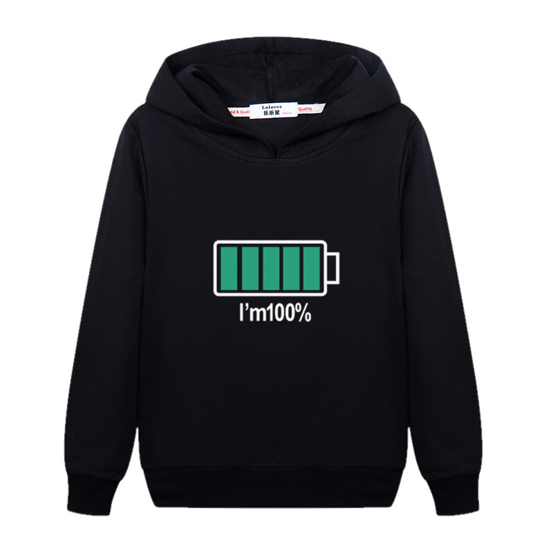Electricity 100% Design Kids Pullover Long Sleeve Cotton Hoodie Boys Autumn Casual Sweatshirt Girls Energy Spring Clothes Child Jacket 2