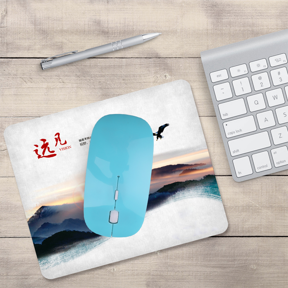 Image 2 - kebidumei 2.4Ghz USB Optical Wireless Mice Mouse Super Slim Thin Mouse Gaming With Receiver Mini For Macbook PC Laptop Computer-in Mice from Computer & Office