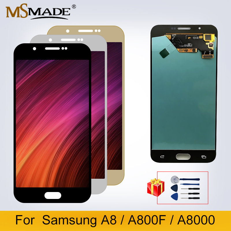 Original LCD For <font><b>Samsung</b></font> Galaxy A8 A800 <font><b>A8000</b></font> A800F LCD Touch Screen Digitizer For <font><b>Samsung</b></font> <font><b>A8000</b></font> LCD+ Gift Accessories image