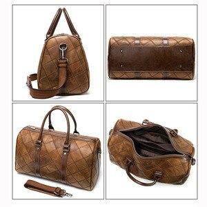 Image 4 - WESTAL גברים של נסיעות תיקי יד מזוודות דובון תיקי עור מזוודות תיק נסיעות מזוודות תיקי גדול/בסוף השבוע תיק