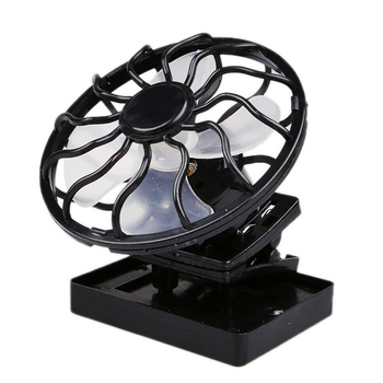 Summer Mini Portable Clip-On Desktop Fan Solar Panel Powered Cooling Fan For Travel Camping Fishing Outdoor Activities-35 stylish baseball hat cap with solar powered cooling fan yellow
