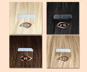 QHP Человеческие волосы Remy для наращивания, Пряди человеческих волос для наращивания 2,5 г/подставка 20 шт./упак. пряди волос на ленте, волосы на ...
