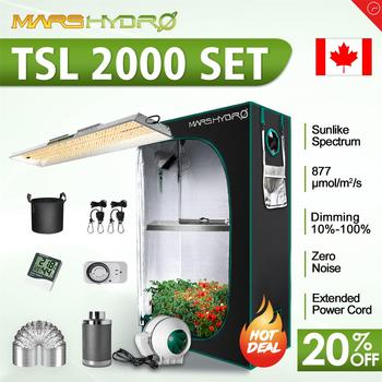 Mars Hydro TSL 2000W Led Grow Light and 120x60x180 CM Indoor Tent Filter Timer Kit 1