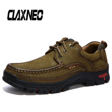 Buy CLAXNEO Man Shoes Genuine Leather Autumn Male Leather Shoe Outdoor Design Mens Walking Footwear Handmade Big Size directly from merchant!