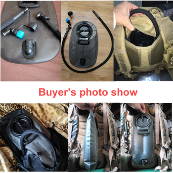 Military Outdoor 2L 2.5L 3L TPU Water Bag Bladder Sport Climbing Hydration System Hiking Survival Pouch Backpack Free Shipping 6