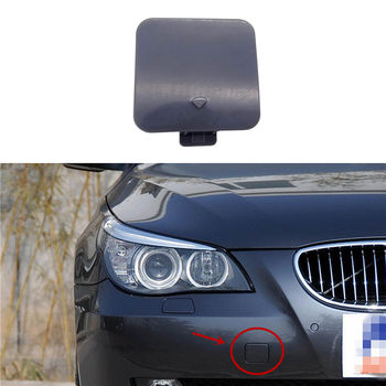JIUWAN Front Bumper Tow Towing Hook Cover Cap Trim for BMW 5 Series E60 E61 525i 525xi 530i 530xi 550i 545i 2004 -2008 image