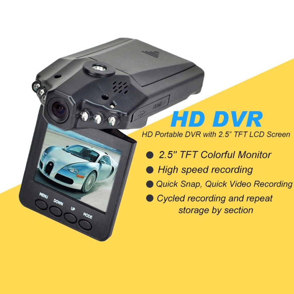 2.5 Inch HD Car LED DVR Road Dash Video Camera Recorder Camcorder LCD Parking Recorder CMOS Senser High Speed Recording