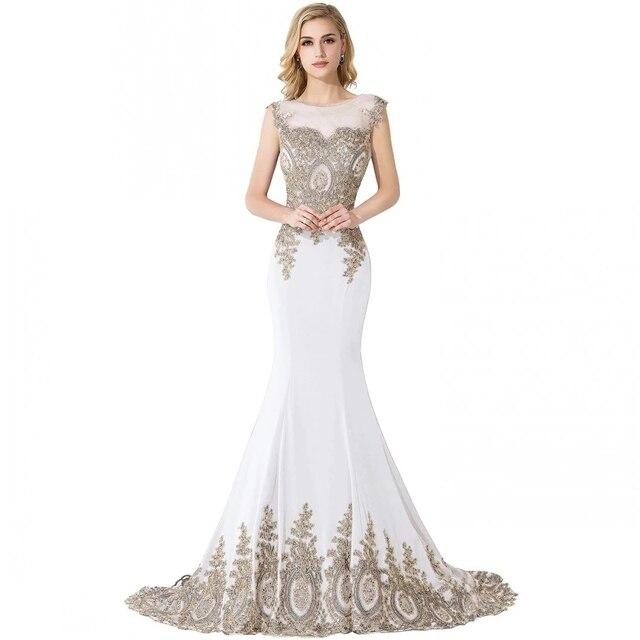 HOT SALE vestido de festa Prom dresses 2021 Long Mermaid Dresses Gold Appliques Royal Blue Kaftan Dubai dress Formal Party Dress 5