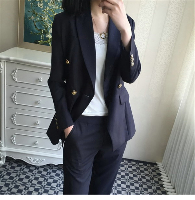 Formal Uniform Business Pant Suits Jacket and Pant Blazer suit Set Women Office Lady 2 Two Pieces Suits Uniform JK350