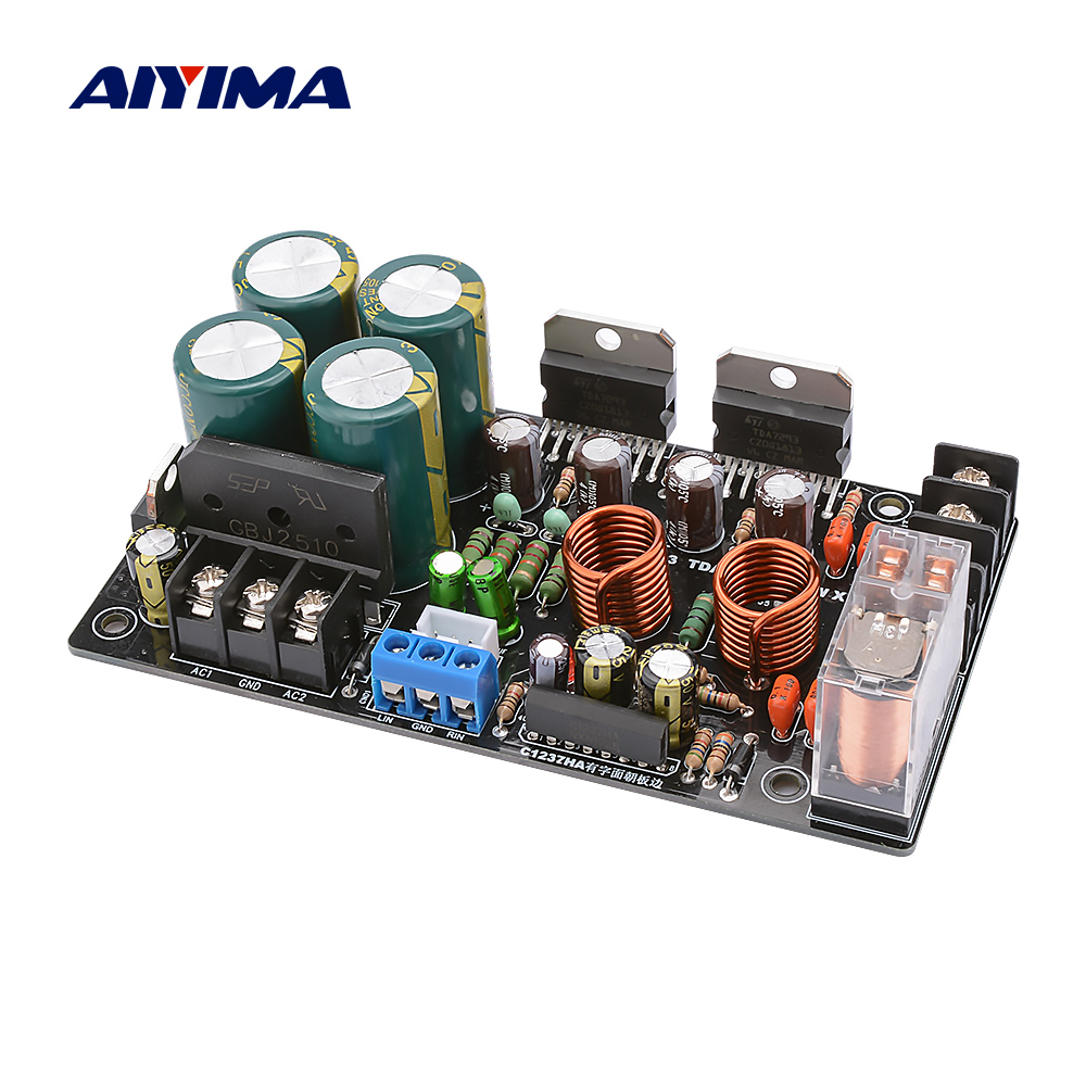 AIYIMA TDA7293 Power Amplifier Board 100Wx2 Stereo Audio Amp 2.0 Sound Amplifiers Super LM3886 Speaker Amplificador Home Theater