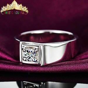 Diamond Moissanite Ring-D Gold Color-Vvs 18K with National-Certificate MO-0022 100%18k