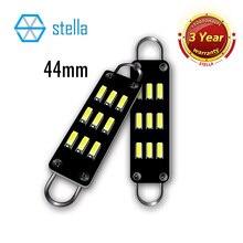 Stella 2 pçs led loop rígido 44mm festão c5w interior do carro lâmpadas 561 562 567 564 doom luz luzes da porta do carro lâmpada tronco 6000k 12v