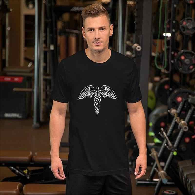 Fitness Weiß Caduceus-medizinisches Symbol t-shirt große größe s ~ 17xL Original Paisley Super herren t t shirts