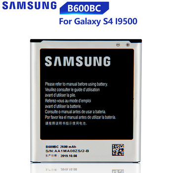 Original Replacement Samsung Battery For Galaxy S4 I9500 I959 I9502 I9508 GT-I9505 Genuine B600BC B600BE B600BU 2600mAh чехол для samsung galaxy s4 i9500 i9505 ozaki o coat diary синий oc740sy