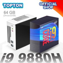 Topton NEW 10th Gen Intel Mini PC Core i9 10880H 9880H 2*Lans 2*DDR4 64GB 2*M.2 NVMe SSD Desktop Computer Nuc Windows 10 Linux
