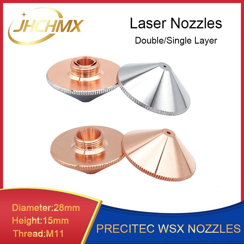 JHCHMX Precitec WSX Han's Nozzles Single/Double Layer Dia.28mm H15 M11 Caliber 0.8-4.0mm P0591-571-0001 Nozzle Factory Wholesale