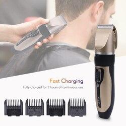 Tondeuse à cheveux à Charge rapide pour hommes tondeuse électrique à rotation Fine outils de barbier professionnels 2 heures en utilisant la Machine de découpe de cheveux 40D