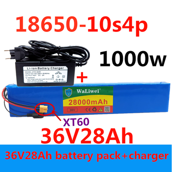 36V battery 10S4P 28Ah battery pack 1000W high power battery 42V 28000mAh Ebike electric bicycle BMS+42VCharge image