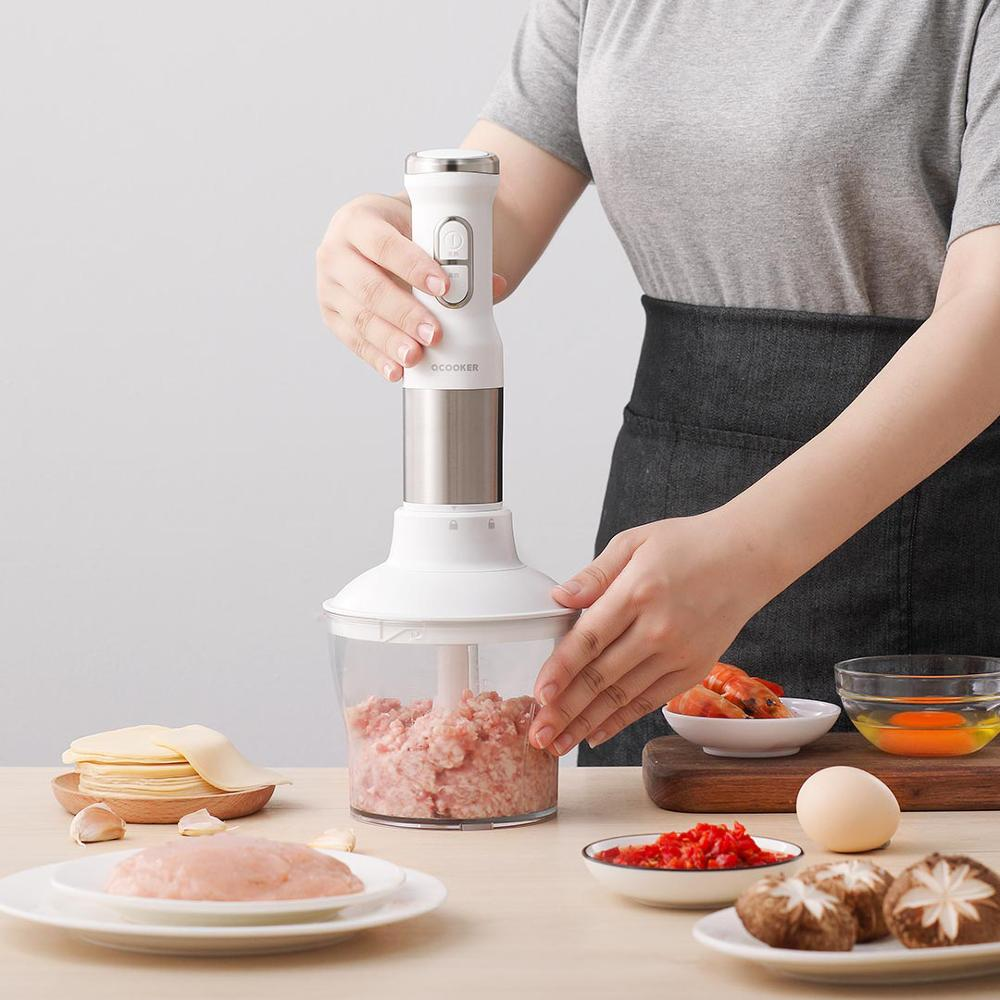 QCOOKER CD-HB01 hand Blender Electric Cup Kitchen Portable Food Processor mixer juicer Vegetables Cook Multi function