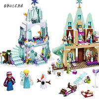 316pcs Dream Princess Castle Elsa Ice Castle Princess Anna Set Model Building Blocks Gifts Toys Compatible Legoinglys Friends