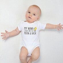 Romper Newborn Baby-Boy Cotton Loves Me My The White Nana 0-18M Moon-Print