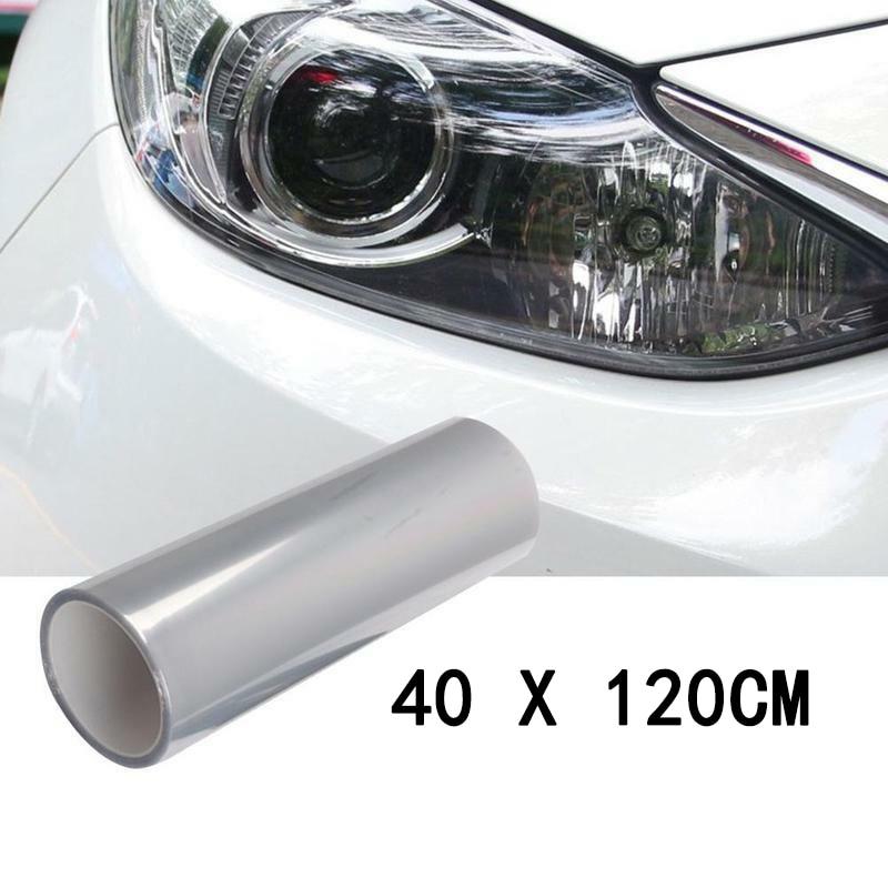 Film protecteur de lumière transparente   En vinyle, Protection contre les UV pour le feu arrière, le phare, le feu arrière et le antibrouillard, 120*40 / 30*60cm