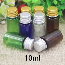 Free Shipping 10ml Plastic Water Bottle with Inner Plug Small Cosmetic Makeup Perfume Essential Oil Travel Package Container