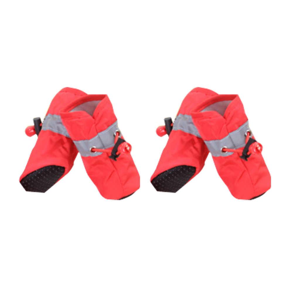 1 zestaw antypoślizgowe wodoodporne zimowe buty dla psa deszcz śnieg buty obuwie grube ciepłe dla małych kotów psy szczeniaczek skarpetki botki