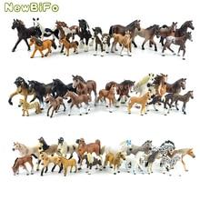 44 أنواع حيوانات المزرعة Appaloosa هارفارد هانوفر Clydesdale الربع العربية الحصان جمع مزرعة مستقرة نموذج لجسم لعبة أطفال