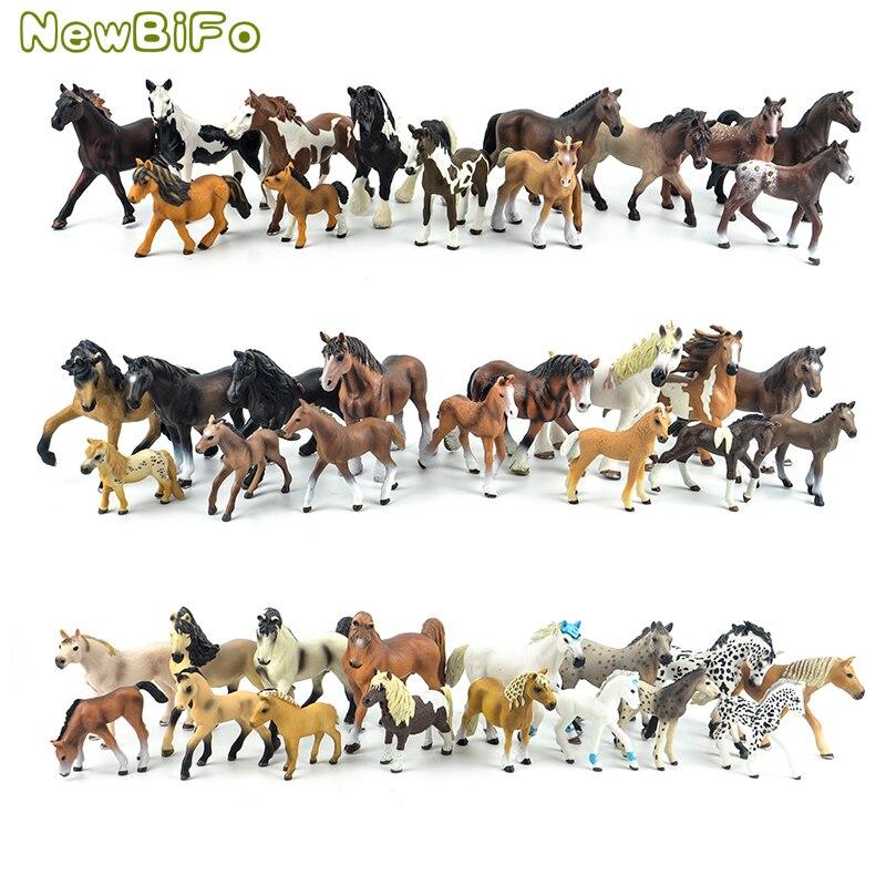 44 rodzaje zwierzęta gospodarskie Appaloosa Harvard Hannover Clydesdale Quarter arabian Horse collection farm stabilny model figurki zabawki dla dzieci