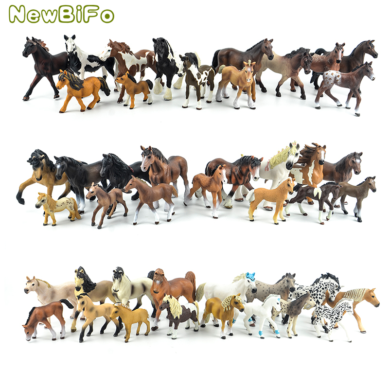 44 types farm Animals Appaloosa Harvard Hannover Clydesdale Quarter arabian <font><b>Horse</b></font> collection farm stable <font><b>figure</b></font> <font><b>Model</b></font> kids <font><b>toy</b></font> image