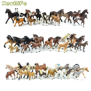 44 types farm Animals Appaloosa Harvard Hannover Clydesdale Quarter arabian Horse collection farm stable figure Model kids toy(China)