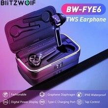 BlitzWolf ב אוזן אלחוטי אוזניות TWS אלחוטי מגע בקרת גרפן סרעפת סוג C טעינה בזמן אמת סוללה אוזניות