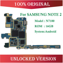 Европейская версия разблокирована и оригинальная основная плата для samsung Galaxy Note 2 N7100 материнская плата с чипами