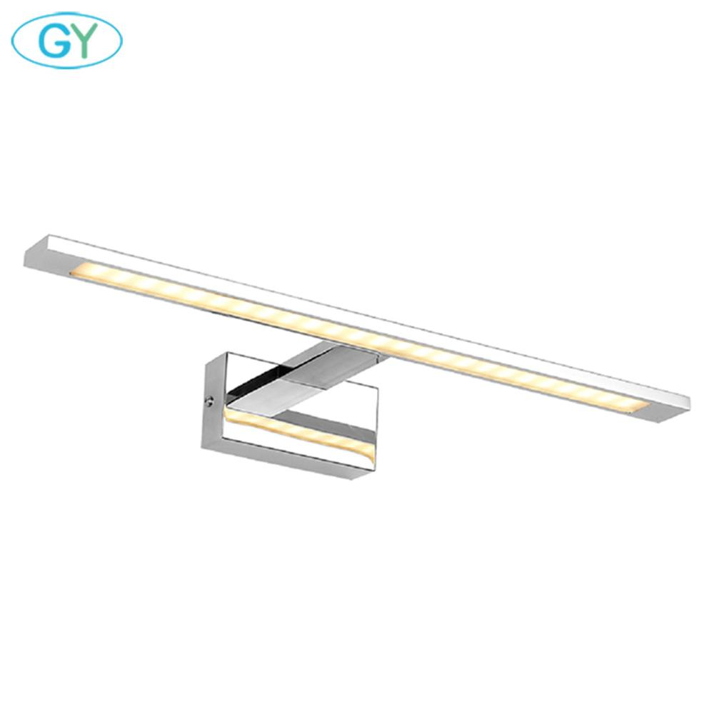 Stainless Steel LED Mirror Light Home Vanity Lights Toilet Mirror Lamp Bathroom Makeup Dressing Table Espejo Luz Espejo Mesa