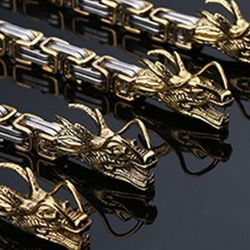 Samoobrona ze stali nierdzewnej na zewnątrz smok łańcuch kobiety mężczyźni bransoletka ręcznie taktyczne metalowe bicz podróży pamiątkowy prezent A6HC w Zewnętrzne narzędzia od Sport i rozrywka na