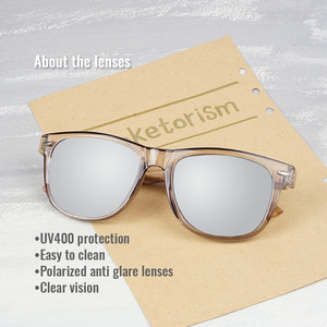 Image 2 - Toketorism 2019 zebra Wood sunglasses Polarized ebony wooden sun glasses Transparent Gray Frame for men women 1051