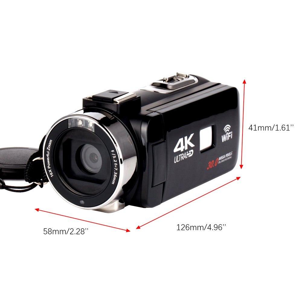 HDV4K HD digital camera night vision 30MP DV WIFI touch screen infrared fill light Camcorder Recorder HDV4K HD digital camera night vision 30MP DV WIFI touch screen infrared fill light Camcorder Recorder