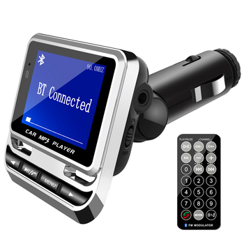 цена на Multi Function FM Transmitter Car Hands-Free MP3 Music Player Support U Disk TF Card Car Navigation Voice Broadcast Device