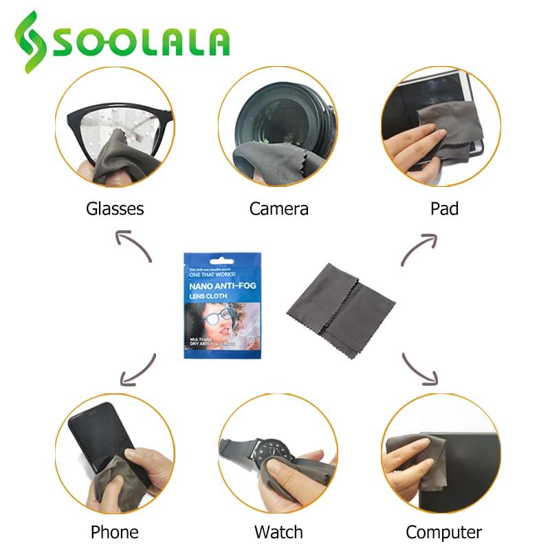 SOOLALA 6pcs 15x14.5cm Eyeglasses Anti-Fog Cloth Microfiber Fabric Glasses Cleaner for Spectacles Lenses Camera Phone Screen 4