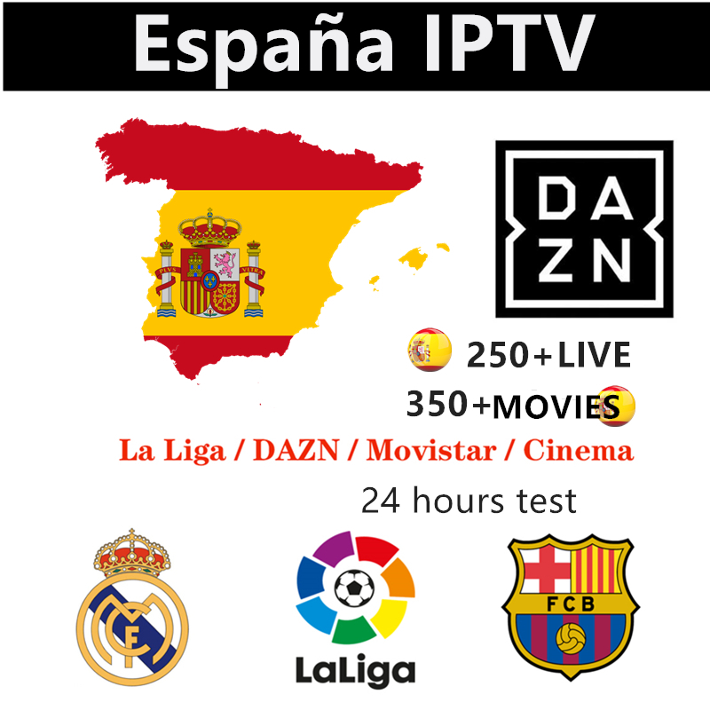 Iptv España Best IPTV Subscription Dazn Spain Movistar Sport Cinema IPTV France Europe Uk 9000+live Hot Club Xxx IPTV M3u Tv Box