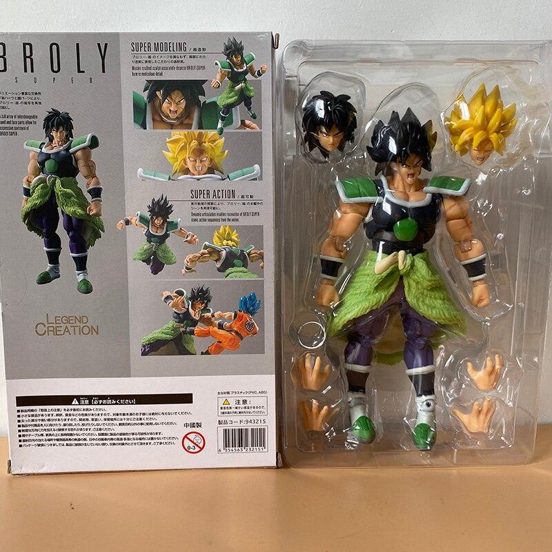 Anime shf super broly figura duas cabeças broly figuras de ação coleção brinquedo