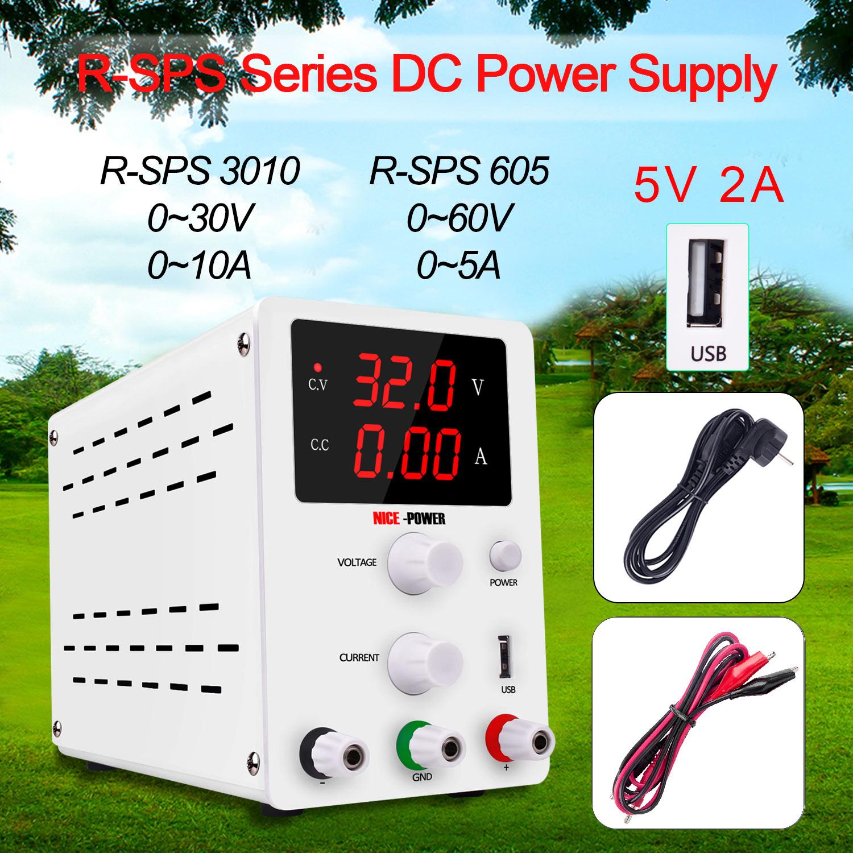 DC LAB alimentation réglable 30V 10A 60V 5A banc Source universelle tension de commutation régulateur de courant pour téléphone PC