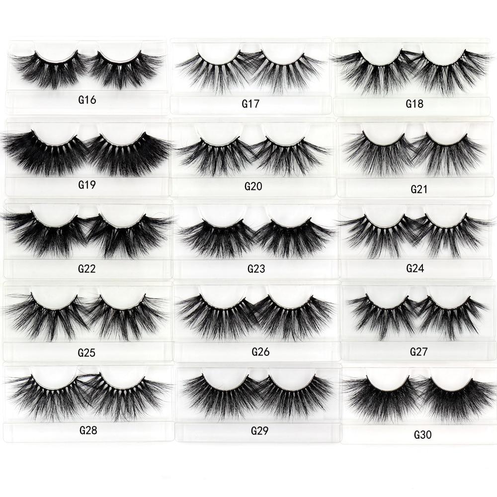 Image 3 - LEHUAMAO 35Pairs/lot  Mink Lashe 3D 25mm Mink Eyelashes Criss cross  Fluffy false eyelashes Popular Lashe Dramatic Eyelashes-in False Eyelashes from Beauty & Health