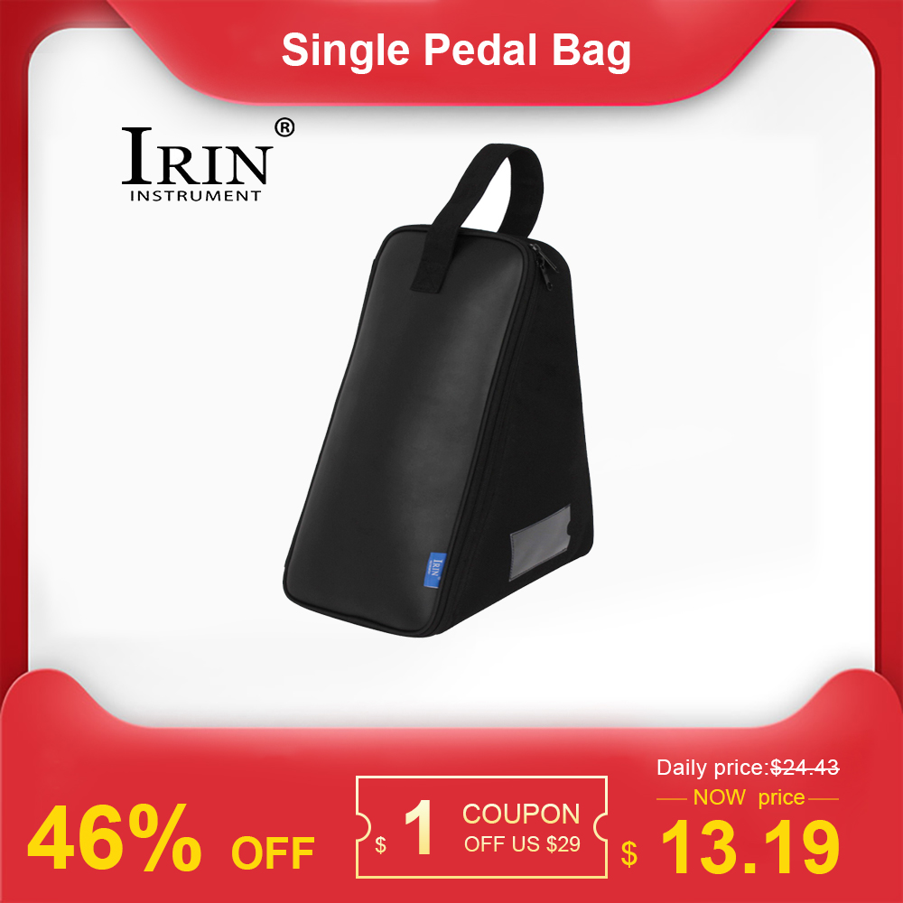 IRIN Single Pedal Bag Leather Protection Drum Kick Pedals Carrying Case Percussion Accessories