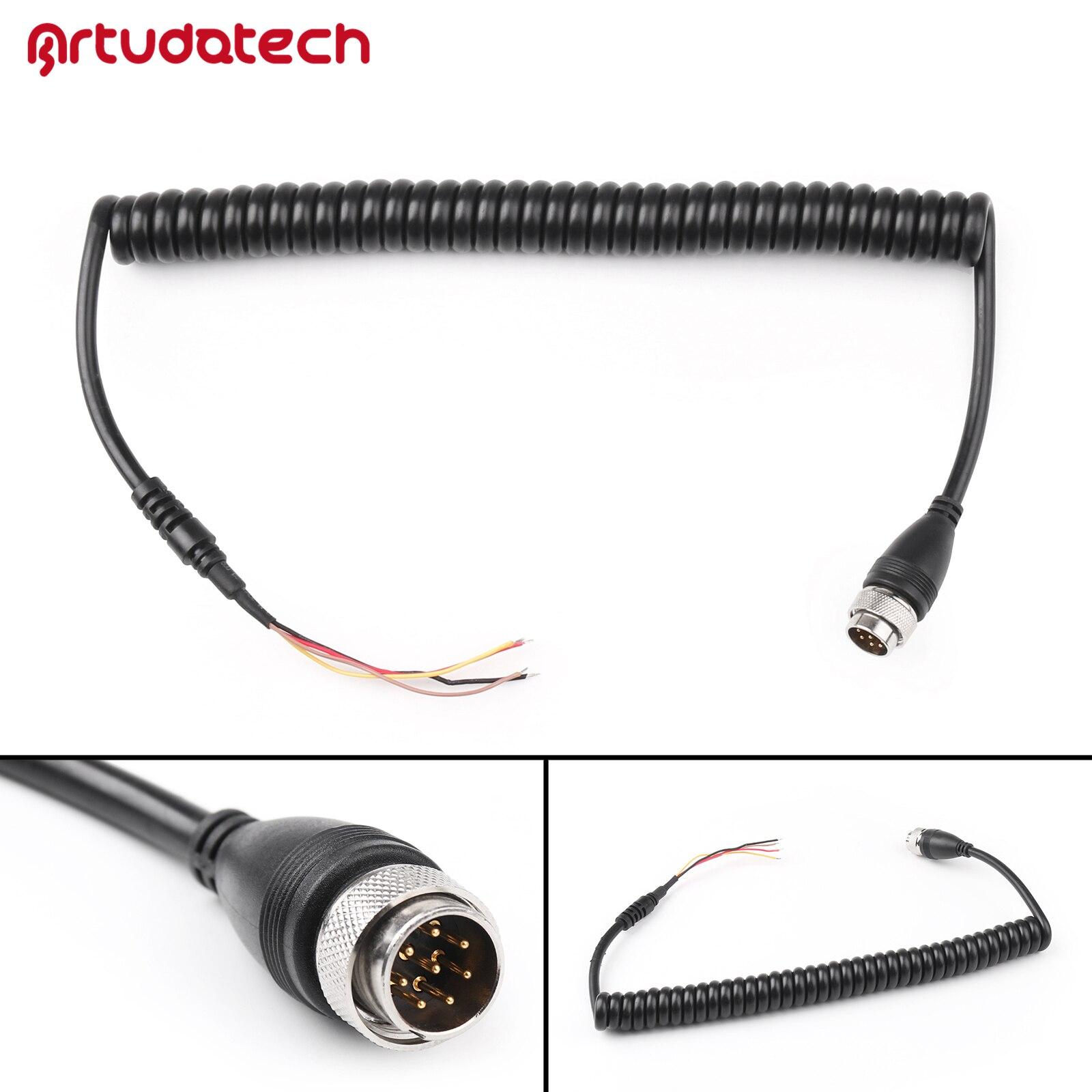 Artudatech Mic Microphone Cable Line For ICOM Radio M710 M700 M700Pro To HM-180 EM-101