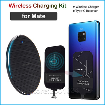Qi Wireless Charging for Huawei Mate 9 10 Pro 20 Lite 20 X Wireless Charger+USB Type C Receiver