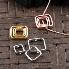 925 Sterling Silver Beaded Square Spacer 6mm 8mm 10mm Handwork Crafts Beads Stone Encircle Frame DIY