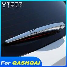 Vtear para Nissan Qashqai J11 j10 dualis cubierta del limpiaparabrisas de la ventana trasera del coche cubierta cromada del limpiaparabrisas accesorios de decoración Exterior del coche 2019 2016 2017 2018 2020