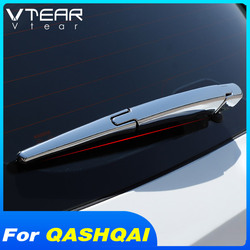 Vtear for Nissan Qashqai J11 j10 dualis car rear window wiper cover chrome wipers trim car Exterior decoration accessories 2019